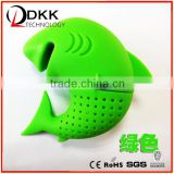 DKK-B031 Kids Love Shape Silicone Shark Tea Infuser Loose Tea Leaf Strainer Filter Diffuser