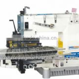 NT008-25064P 25 needle half-cylinder type back and forth driving double chain stitch machine on tuck fabric
