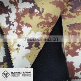 nylon taslan fabric bonded with polar fleece waterproof and breathable camouflage printed