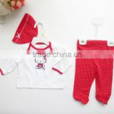 latest design baby frock baby girls top design 2pcs sets baby clothes 1set newborn clothing set