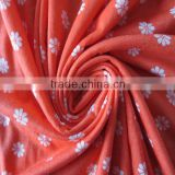 popular design 100% Polyester knitted fabric,30S poly spun printed knitted fabric manufacturer