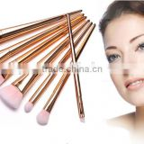 metal handle makeup brush wholesale 7 piece golden/rose golden/silver brush set                                                                         Quality Choice