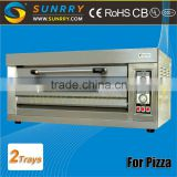 Professional stainless steel two trays industrial mini oven electric baking oven price of cake oven with high quality