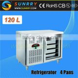 Glass Door Luxious Hotel Cabinet Refrigerator Four Drawers Single Door (SY-RT865GNG SUNRRY)