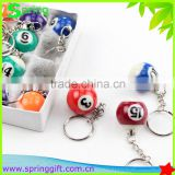 billiards ball key chain /snook bal key chain /gift ball key chain