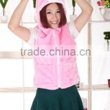 beautiful promotional pink customized plush bunny rabbit animal shaped clothes/clothing/dress/garment