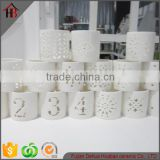 wholesale various white ceramic candle holder