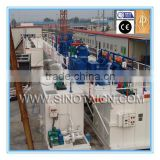 Drilling fluid solid-control system for 4000 m drilling rig