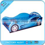 Blue Race Car Toddler Childrens Single Bed