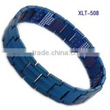hot sale men's 4 in 1 bio energy elements magnetic bracelet, titanium health care bracelet