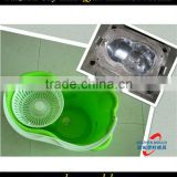 Easy operation plastic injection mop bucket moulding