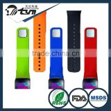 Elegant shape unbreakable silicone rubber strap for apple watch