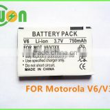 3.7V 750mAh BZ60 Mobile Phone Battery for Motorola V3XX V6 MAXX Razr V3a, Cell Phone Battery for Motorola BZ60