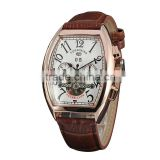 Chinese watch factory custom mens rectangle forsining tourbillon automatic mechanical watch