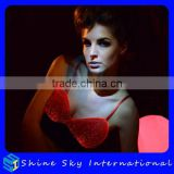 Durable Hot Sell Stylish Black El Wire Light Up Bra