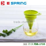 High Quality New Mini Silicone Gel Foldable Collapsible Style Funnel Hopper Kitchen cooking tools