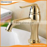 New Design Products Antique brass golden hand wash basin mixer