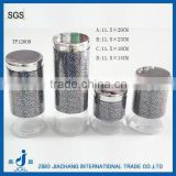 bulk food glass containers with stainless steel lid