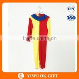 Red and yellow professional clown fancy dress / costumes / clothes