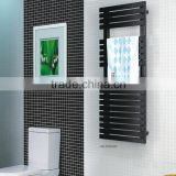 HB-R38 series bathroom hot water heated steel black ladder towel racks warmer towe rails radiator