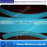 folder gluer belt, soft rubber flat belt of the Box making machine, nylon film base belt, thickness: 3mm