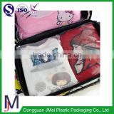 China supplier cheap price plastic zip lock packaging bag for clothes/three sides zipper pe clothes pouch