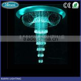 Fashion luxury crystal pendant lighting for project presentation with fiber optic lighting