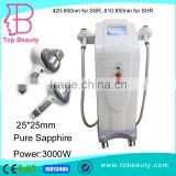 "Arms / Legs Hair Removal 8.4"" Colorful Face Lifting Touch Screen Ipl Shr Epilation Device Acne Removal"