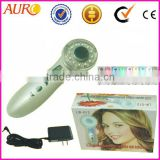 AU-012 promotion Portable Ultrasonic Body Massage Ultrasound Theropy white 7 color light