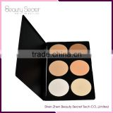 Wholesale 6 Colors Waterproof Powder Brands for Dry Skin Makeup Cosmetics Concealer Palette