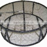 "Rubber wrapped Rebar 30"" round Stainless Steel wire crab traps"