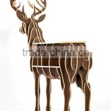 The elk Home Furnishing Decor craft ornaments creative wooden crafts European wood ornaments(Middle size)