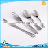 Hot selling PS plastic silver fork spoon knife four cutlery sets