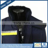 Custom Made Water Repellent Windproof Winter Quilted Work Jacket with Company's Brand Names