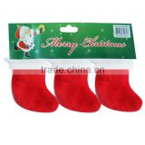 Best selling custom decoratire fabric christmas stocking