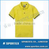 Hot-sell Yellow Top Quality New Design Custom Polo Shirt