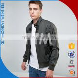 Men's casual black jacket collar young men coat slim long sleeved men sport coat with printing