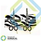 Wider Grip Attractive Zebra Design new 2015 style razor edge scissors, Paper coated , Ball Bearing Screw By Source Of Surgical