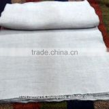 Linen cotton grey thick fabric for furnishing -- hand woven