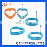 Silicone Egg Boiling Ring/silicon egg cook ring with handle