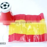 Spain football game fan plastic french horn with flag