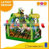 2017 custom design China factory pvc inflatable panda bounce house jumping bouncer for sale