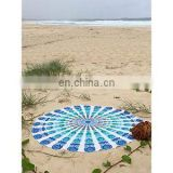 Indian Printing Round Mandala Tapestry Wall Hanging Beach Throw Towel Yoga Mat Boho Decor