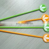 Disposable different colors and shapes plastic cocktail stirrer spoon