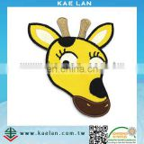 Lovely giraffe embroidery badge, custom animal design patch for kids clothing, bag, cap