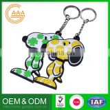 Factory Direct Sales Factory Direct Price Customized Oem Silicon personalized keychain dog