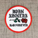 Patches | Embroidered Patches | Born Sinners Embroidered Patches