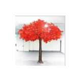 Heart shape crown cheap artificial trees red maple trees