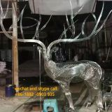 Deer Sculpture Community Public Landscape Customized Modern Iron Deer Christmas