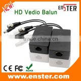 Enster UTP HD Passive transmitter+receiver, CAT 5/5E/6 Video Balun Connector Power Supply for CCTV Camera